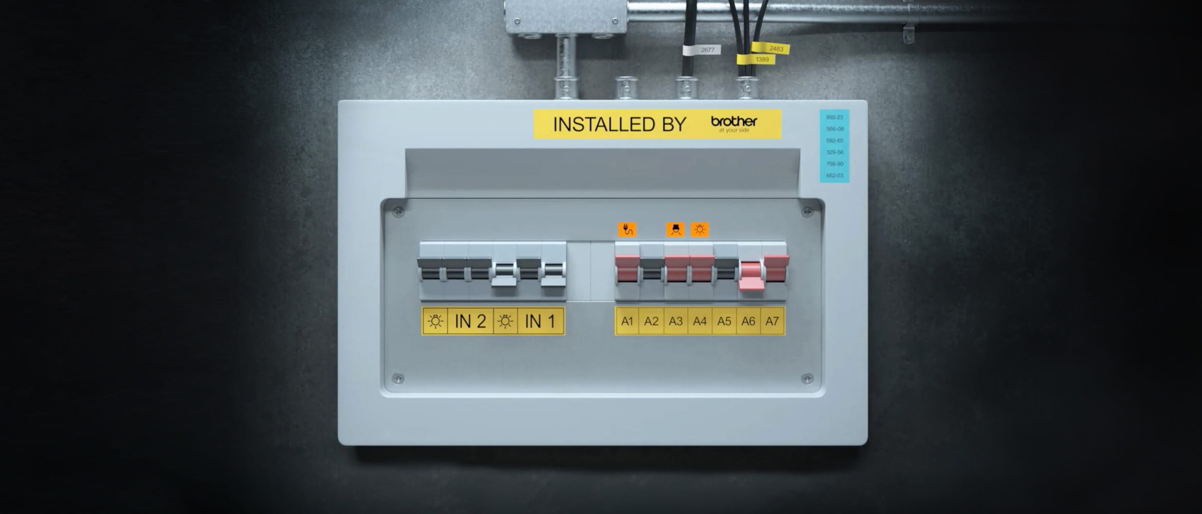 Labelled fuse box