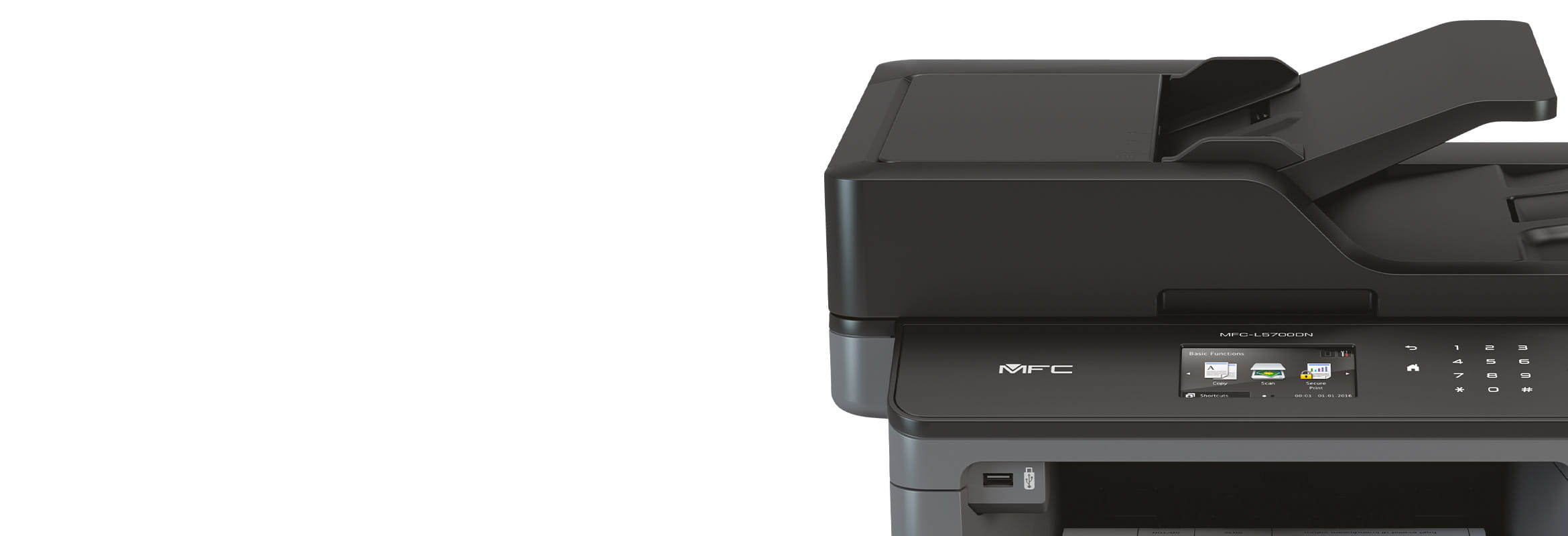 Brother printer closeup