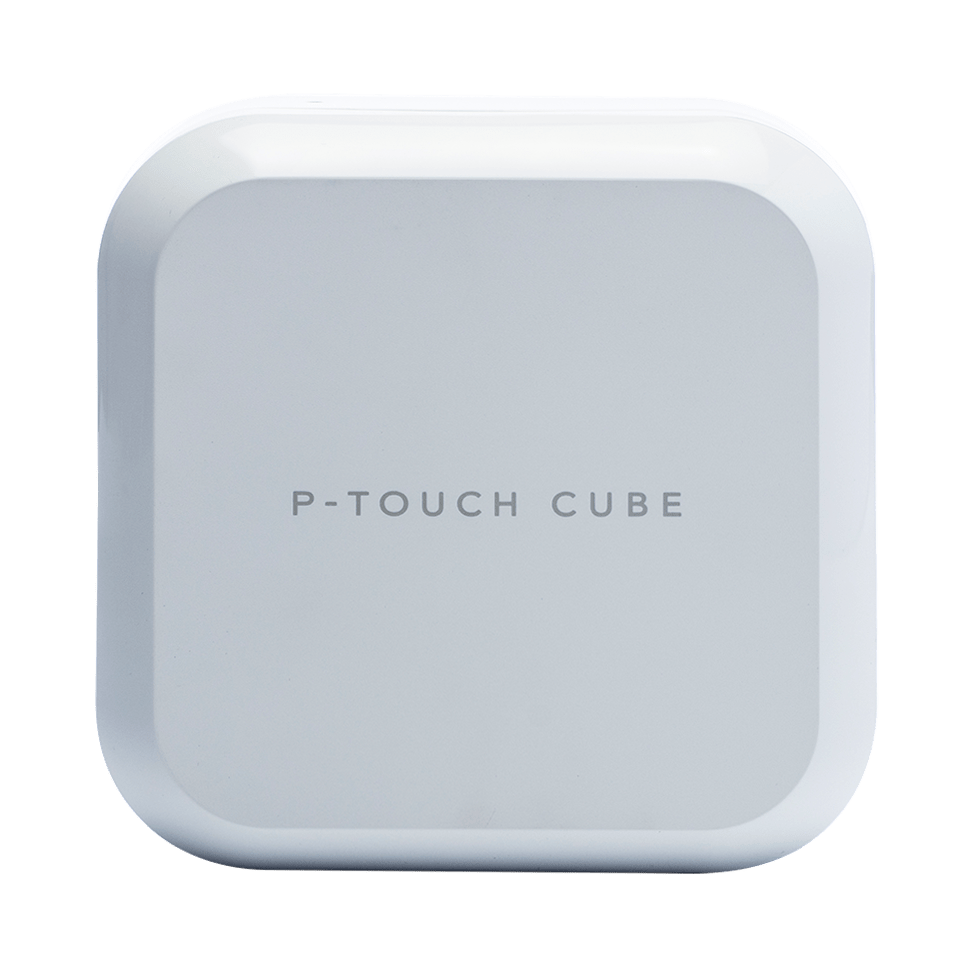 P-touch CUBE Plus PT-P710BTH Rechargeable Label Printer with Bluetooth (White)