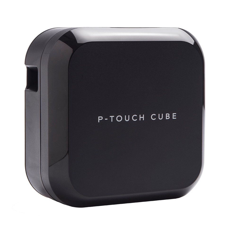 P-touch CUBE Plus rechargeable label printer with Bluetooth
