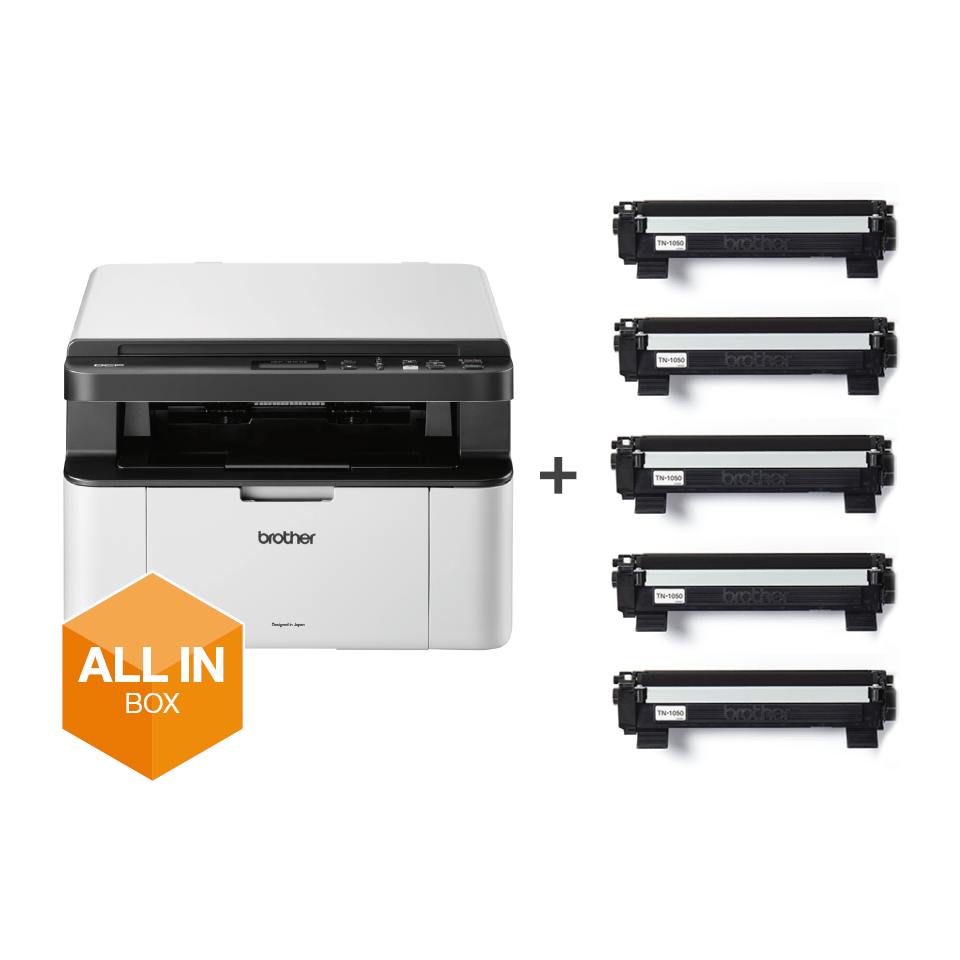 Wireless 3-in-1 Mono Laser Printer - DCP-1610WVB All in Box Bundle 6