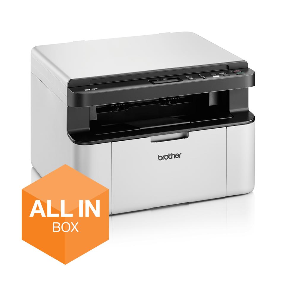 Wireless 3-in-1 Mono Laser Printer - DCP-1610WVB All in Box Bundle 2