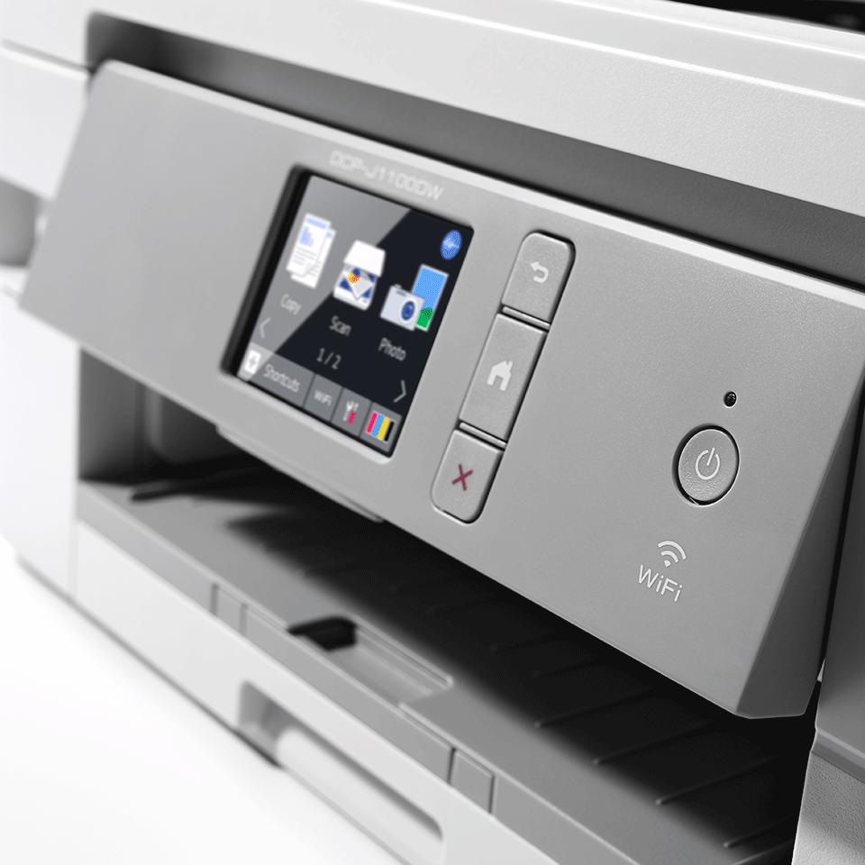 DCP-J1100DW All In Box Bundle. Wireless 3-in-1 Colour Inkjet Printer  5