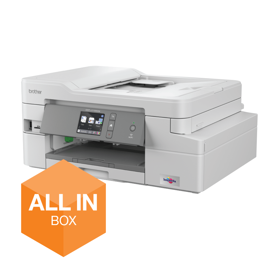 DCP-J1100DW All In Box Bundle. Wireless 3-in-1 Colour Inkjet Printer