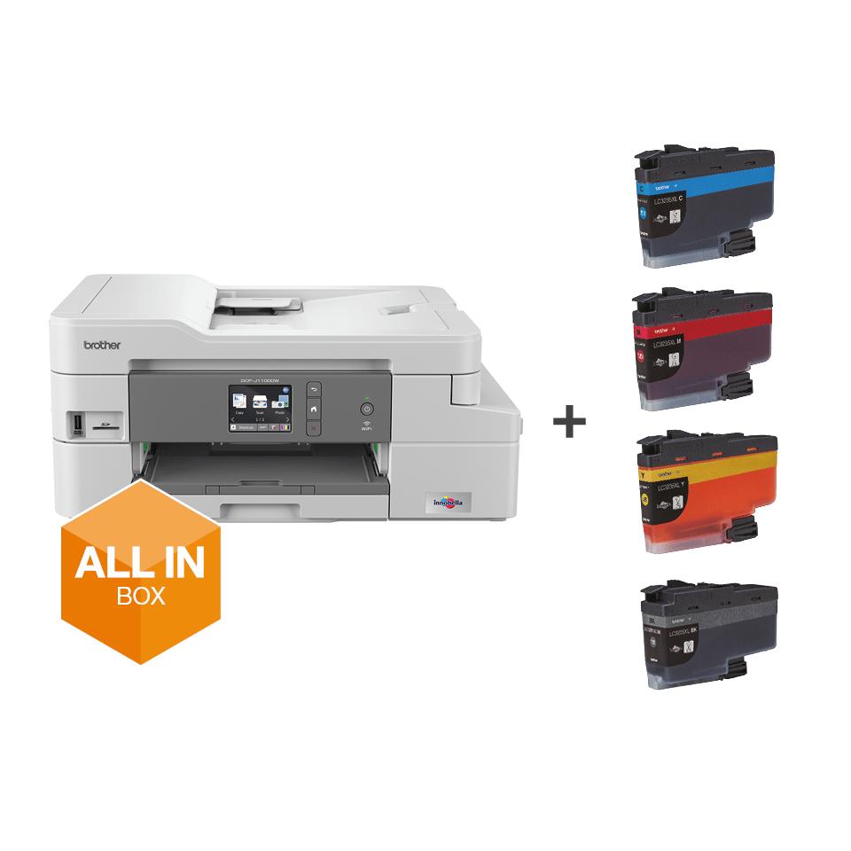 DCP-J1100DW All In Box Bundle. Wireless 3-in-1 Colour Inkjet Printer  7