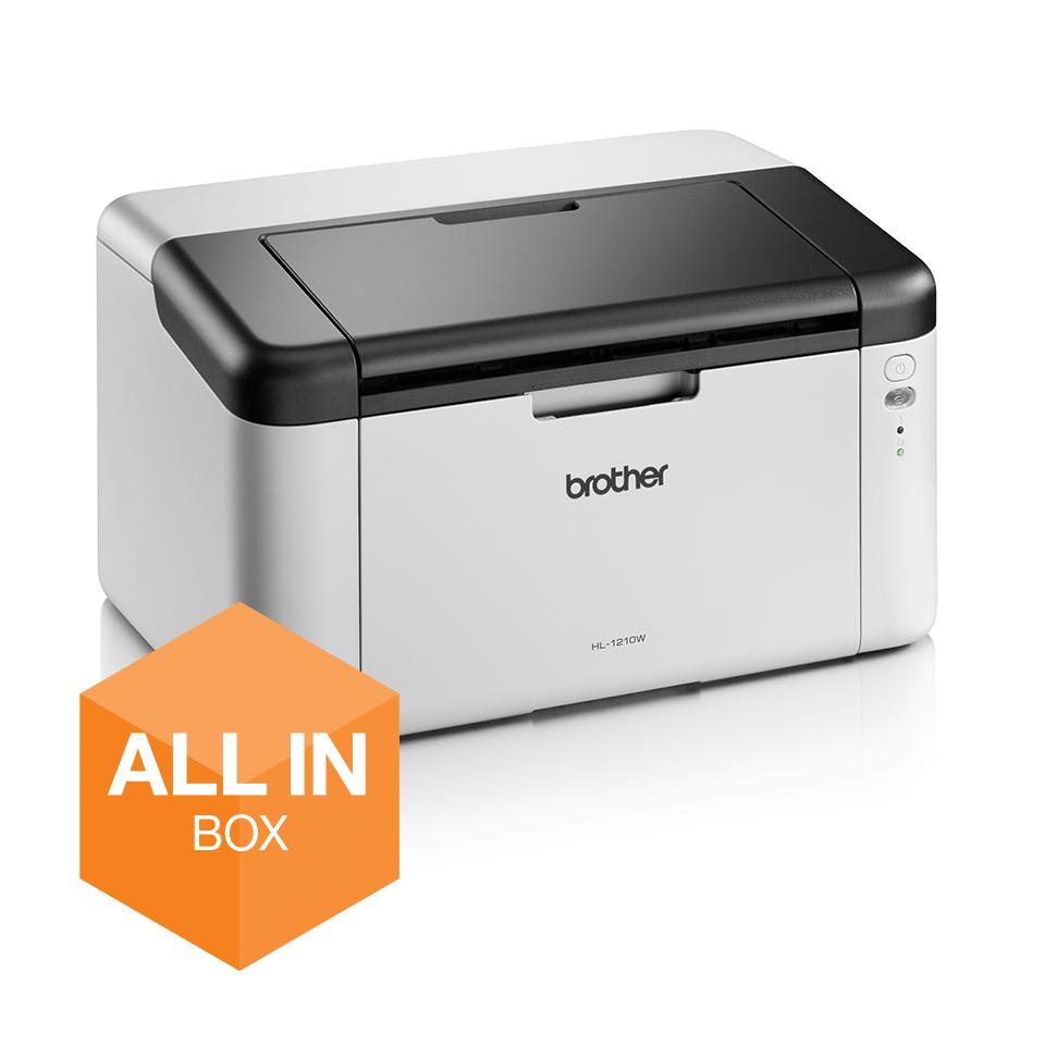 Wireless Mono Laser Printer - HL-1210WVB All in Box Bundle 2
