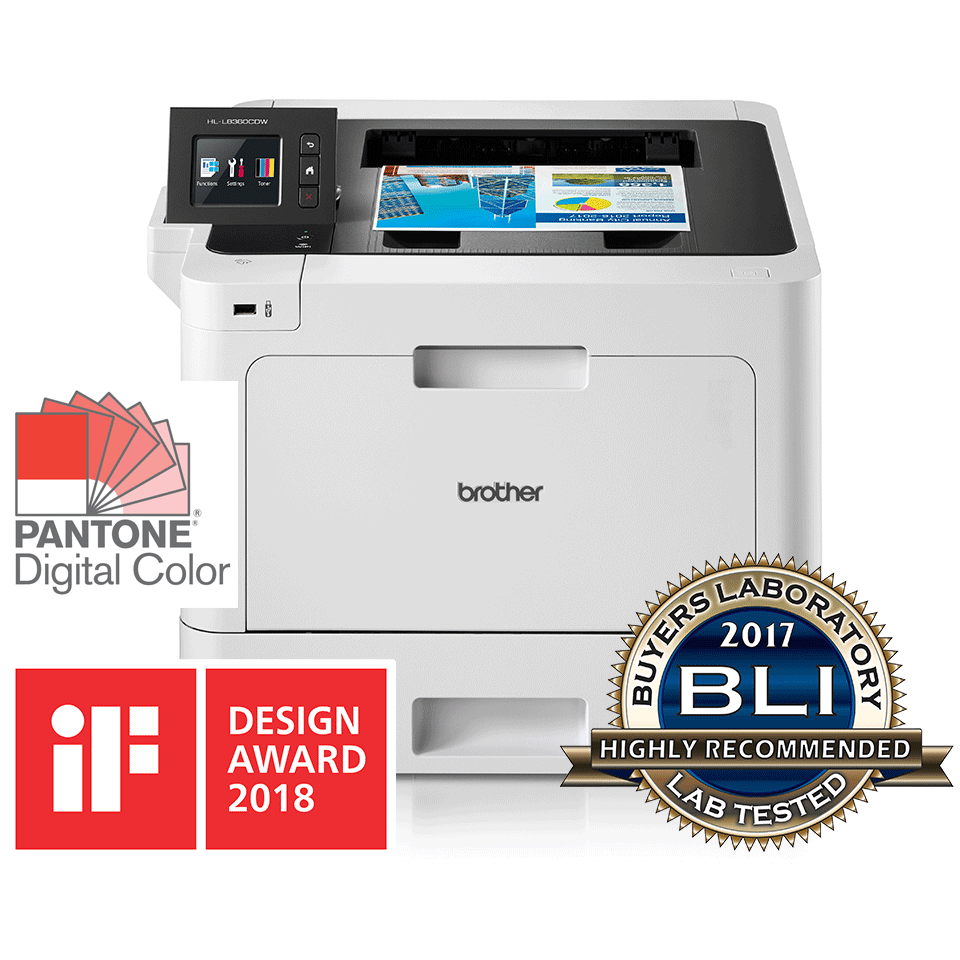 HL-L8360CDW wireless colour laser printer with intuitive touchscreen