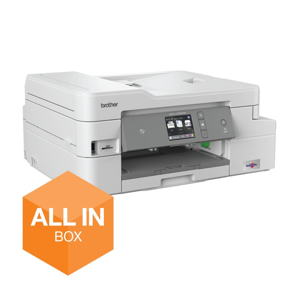 Wireless 4-in-1 Colour Inkjet Printer MFC-J1300DW All In Box Bundle 2