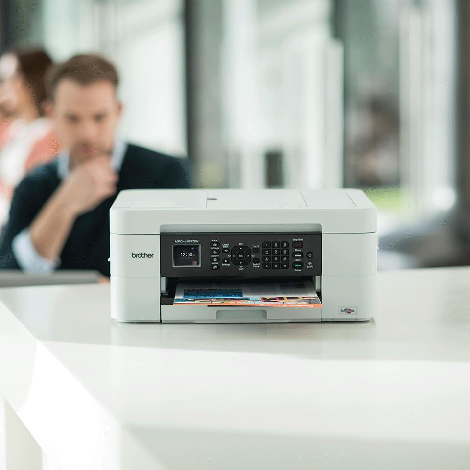Wireless 4-in-1 Colour Inkjet Printer MFC-J497DW 3