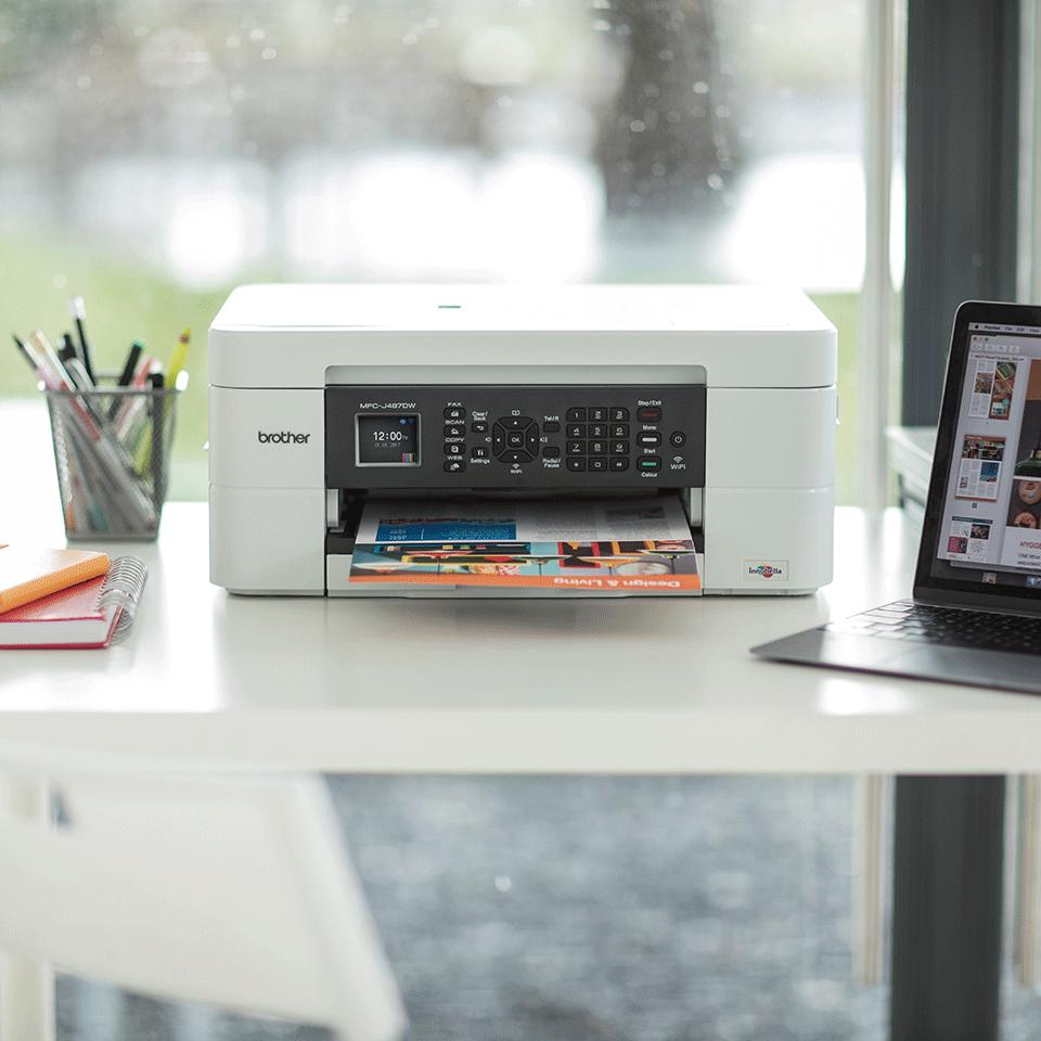 Wireless 4-in-1 Colour Inkjet Printer MFC-J497DW 4