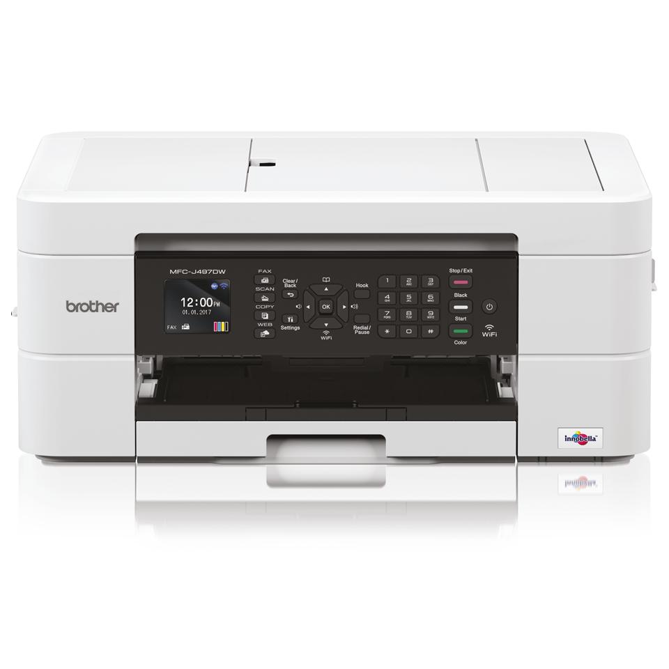 Wireless 4-in-1 Colour Inkjet Printer MFC-J497DW
