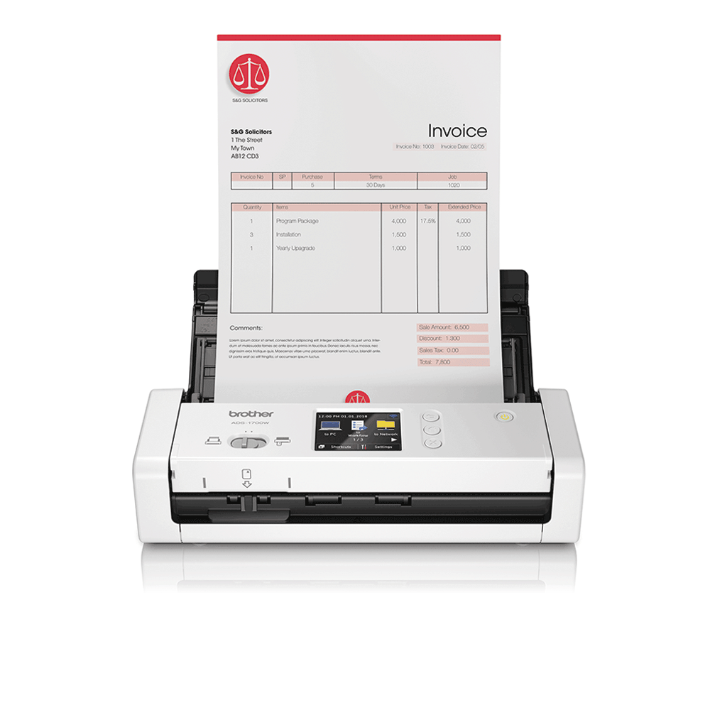 ADS-1700W Smart, Compact Document Scanner