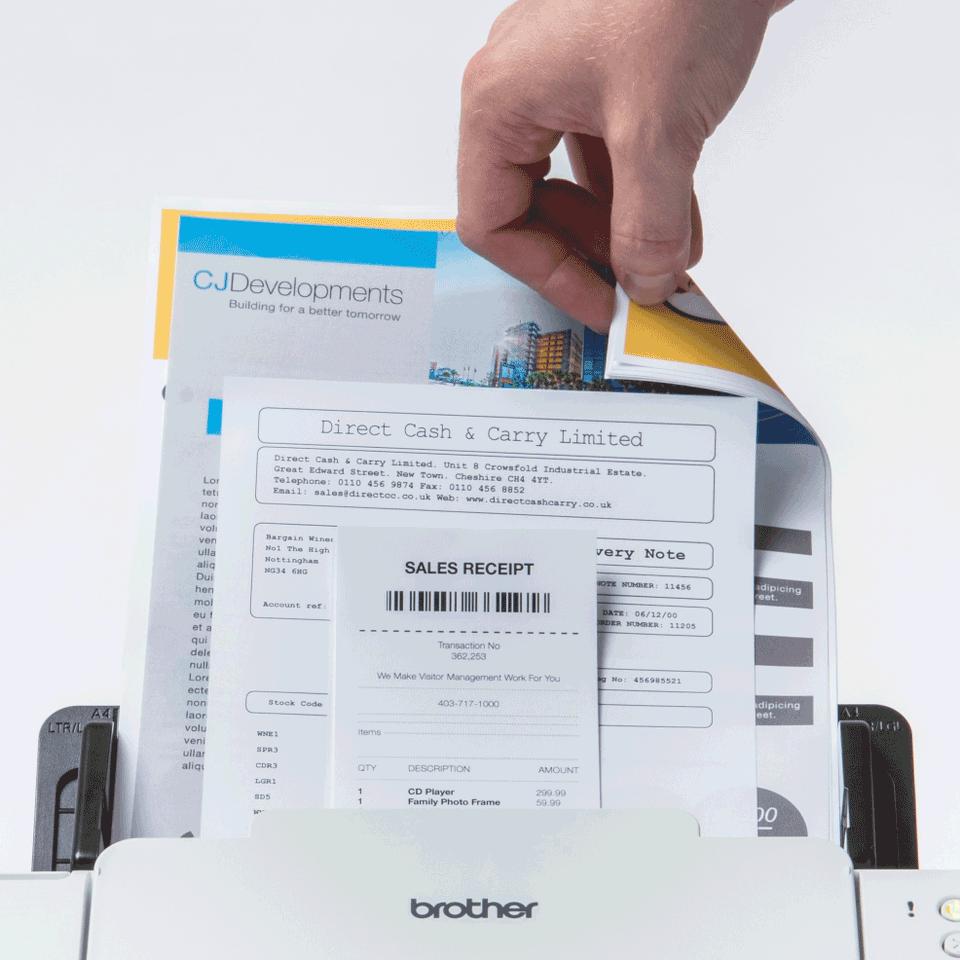 Brother ADS-2700W wireless, networked desktop document scanner 5