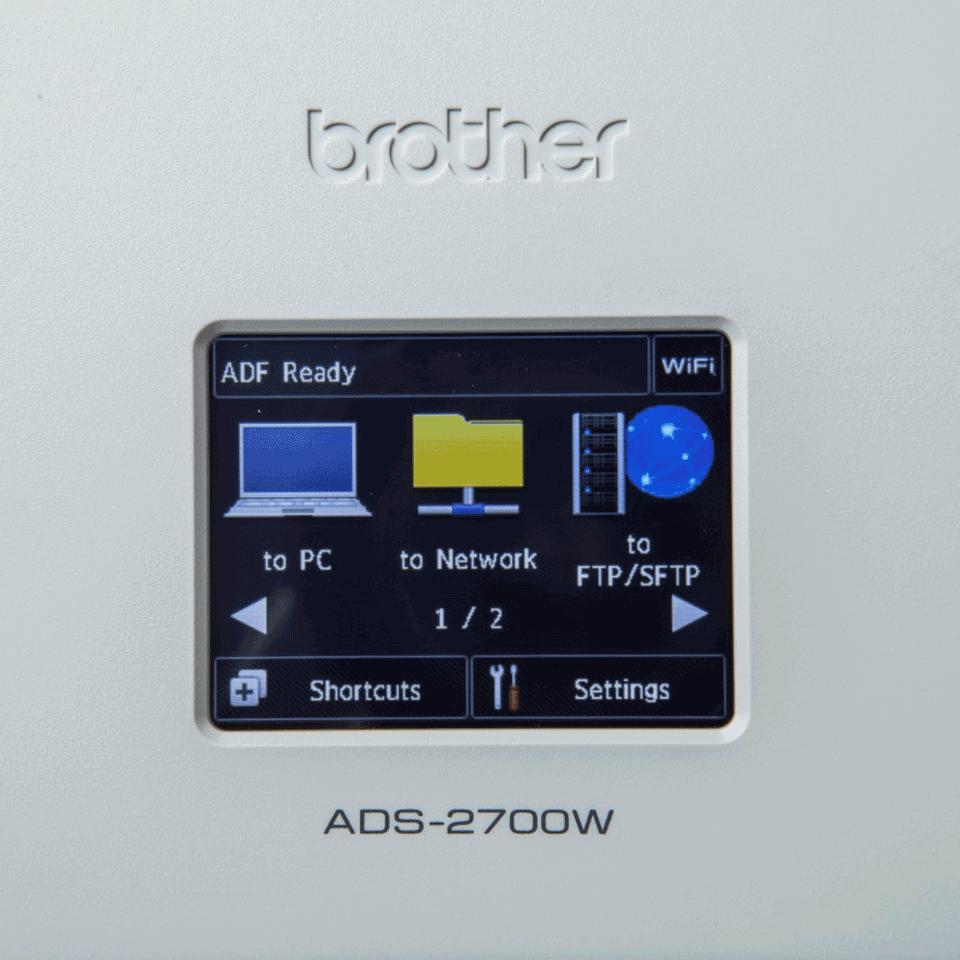 Brother ADS-2700W wireless, networked desktop document scanner 7