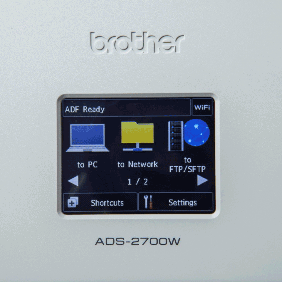 Brother ADS-2700W wireless, networked desktop document scanner 7