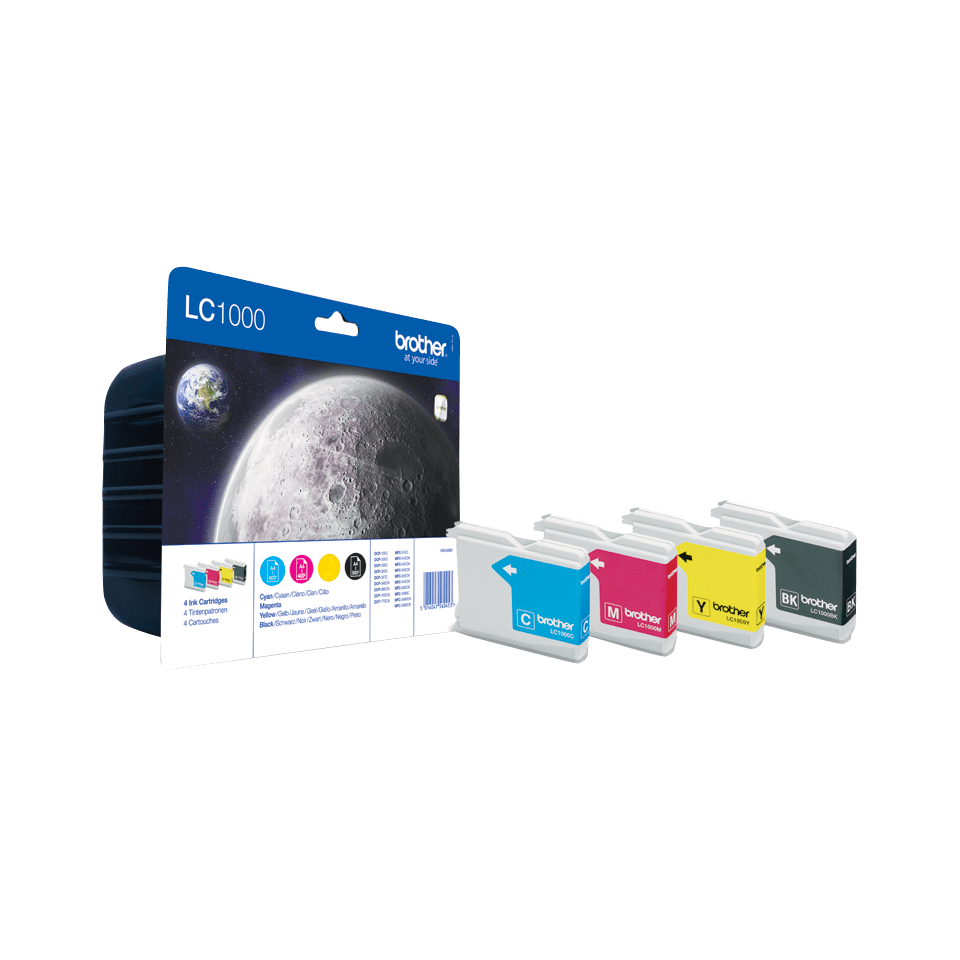 Genuine Brother LC1000VALBP High Yield Ink Cartridge Multipack