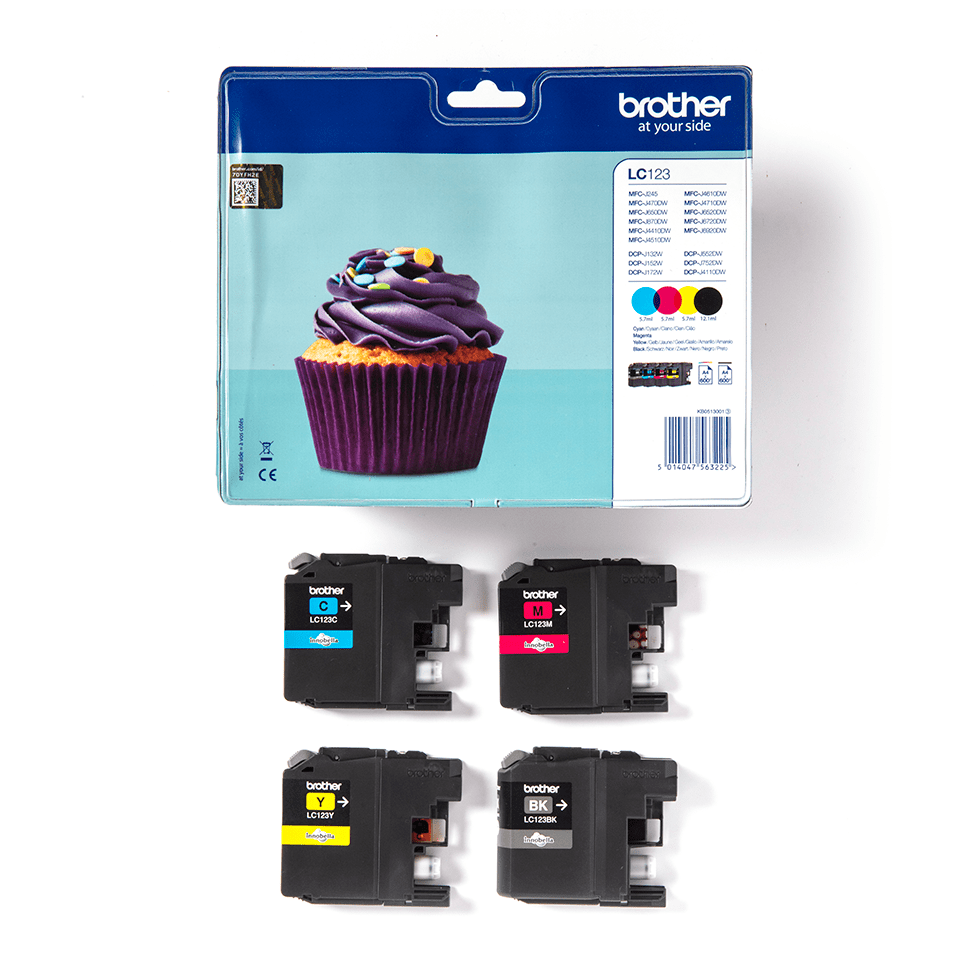 Genuine Brother LC123VALBP Ink Cartridge Multipack 3