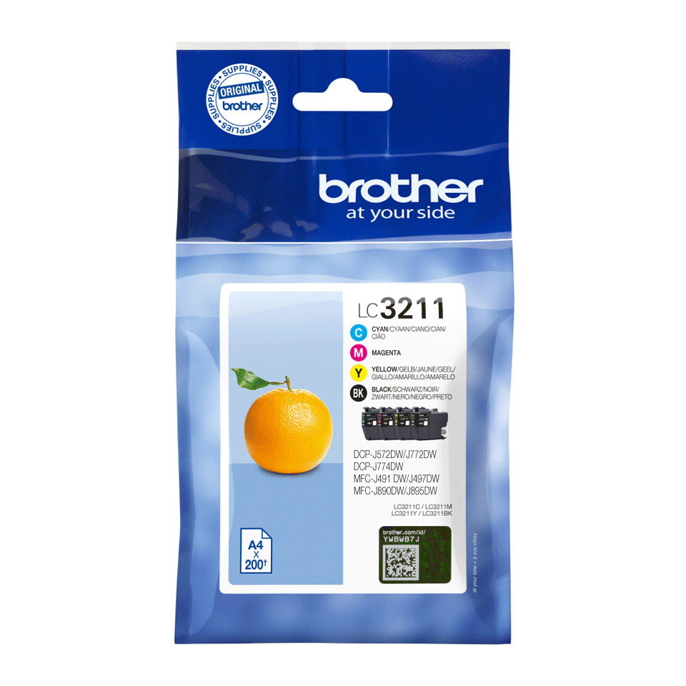 Genuine Brother LC3211VAL ink catridges - value pack