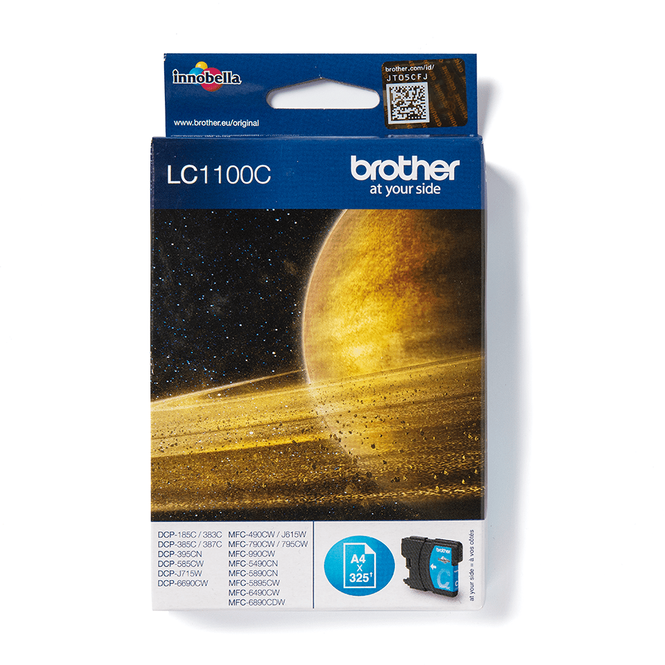 Genuine Brother LC1100C Ink Cartridge – Cyan
