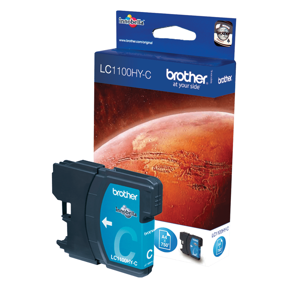 Genuine Brother LC1100HYC High Yield Ink Cartridge – Cyan