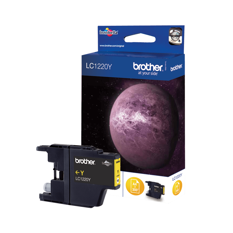 Genuine Brother LC1220Y Ink Cartridge – Yellow