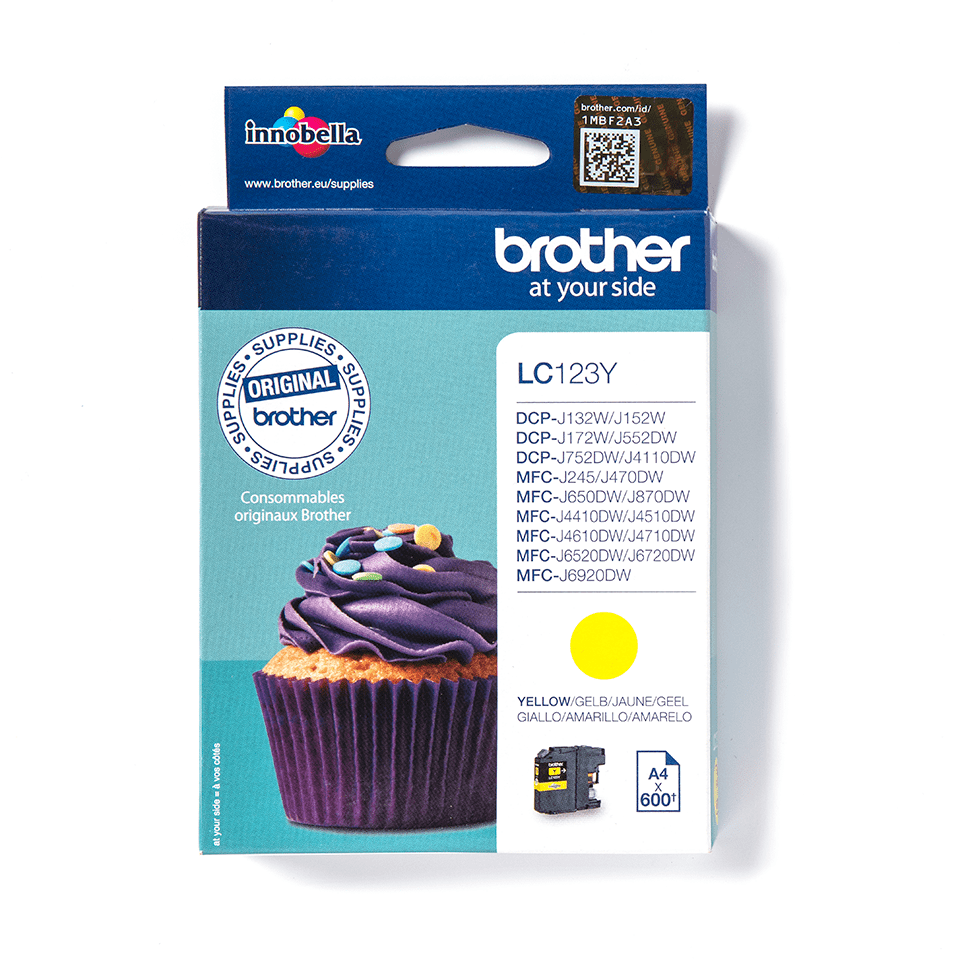Genuine Brother LC123Y Ink Cartridge – Yellow 2