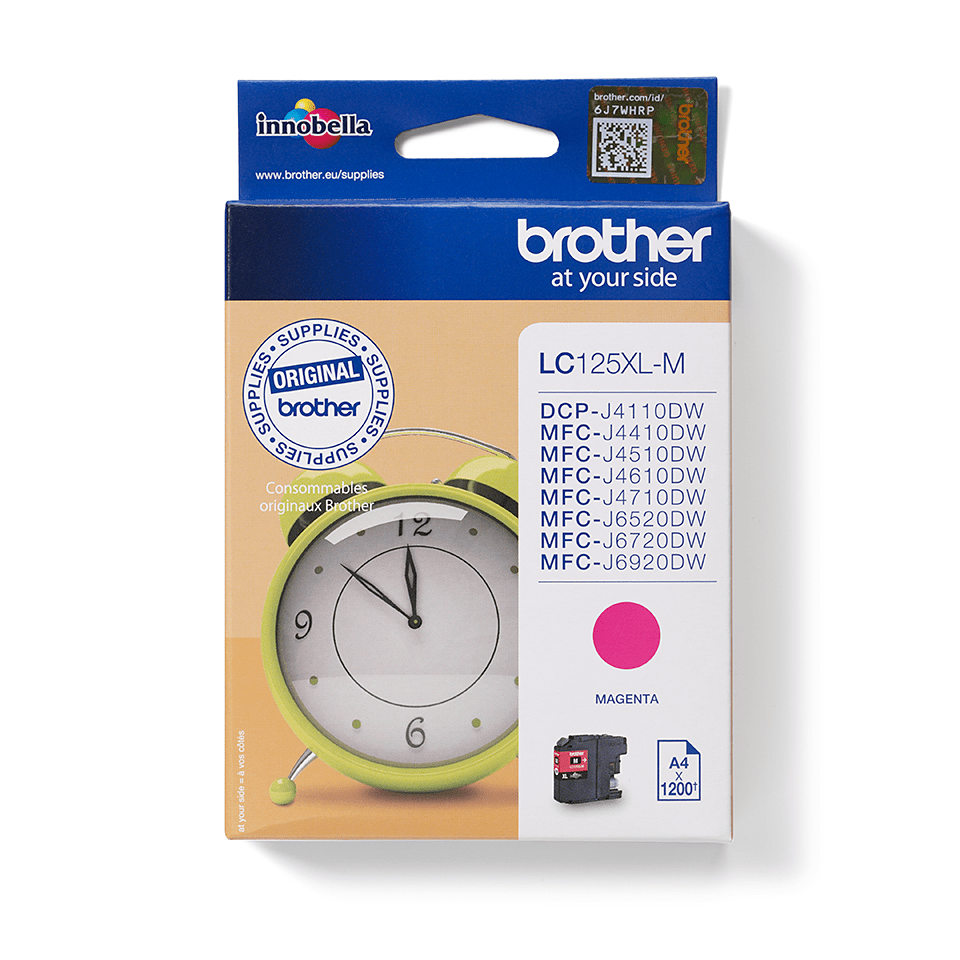 Genuine Brother LC125XLM Ink Cartridge – Magenta
