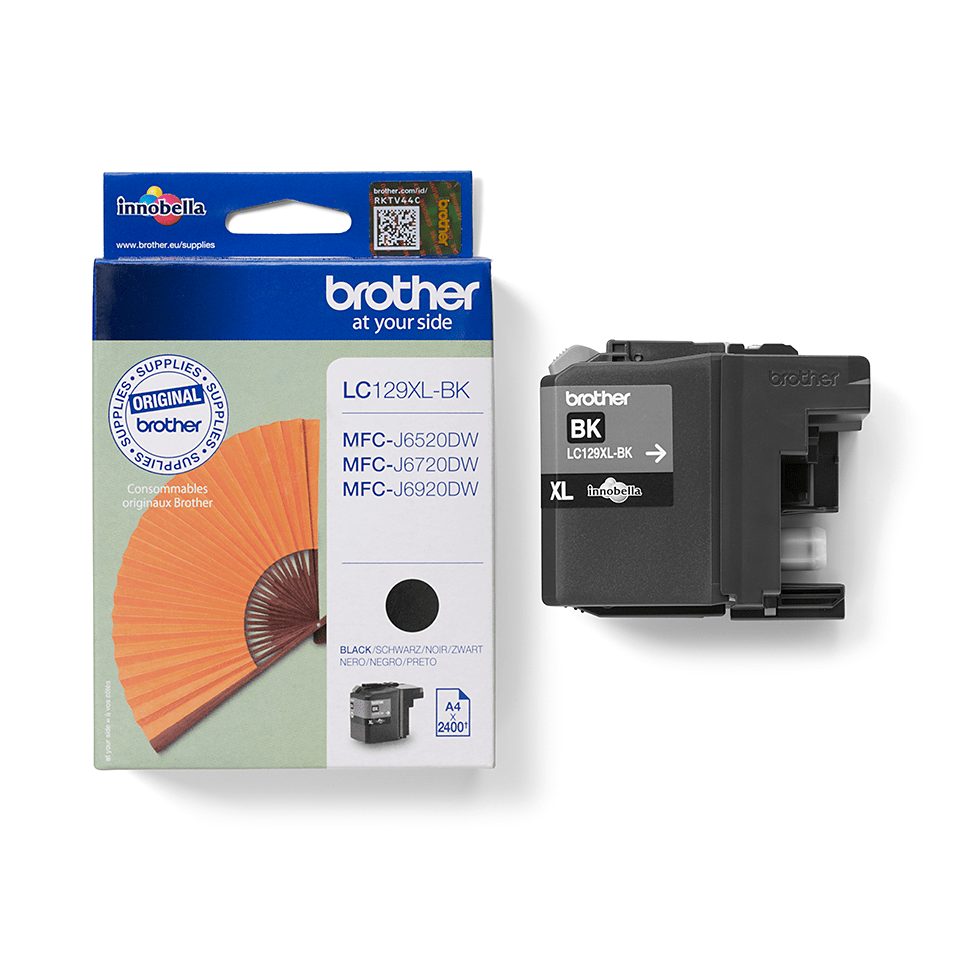 Genuine Brother LC129XLBK High Yield Ink Cartridge – Black  2