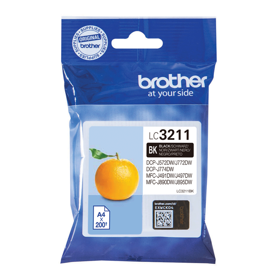 Genuine Brother LC3211BK ink cartridge - Black