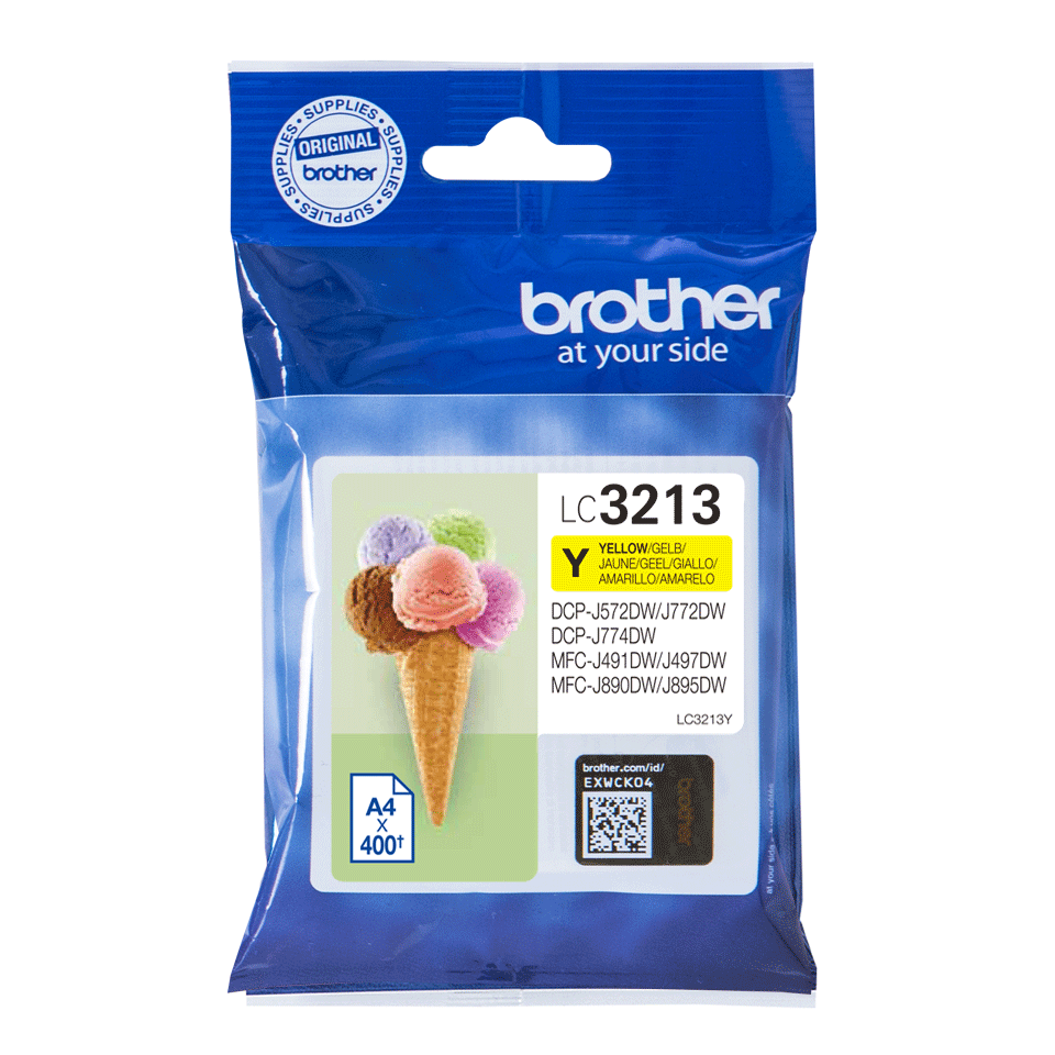 Genuine Brother LC3213Y ink cartridge - yellow