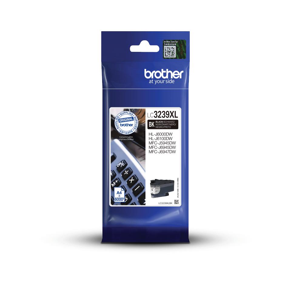 Genuine Brother LC3239XLBK high-yield ink cartridge – black