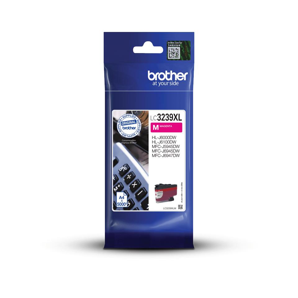 Genuine Brother LC3239XLM high-yield ink cartridge – magenta