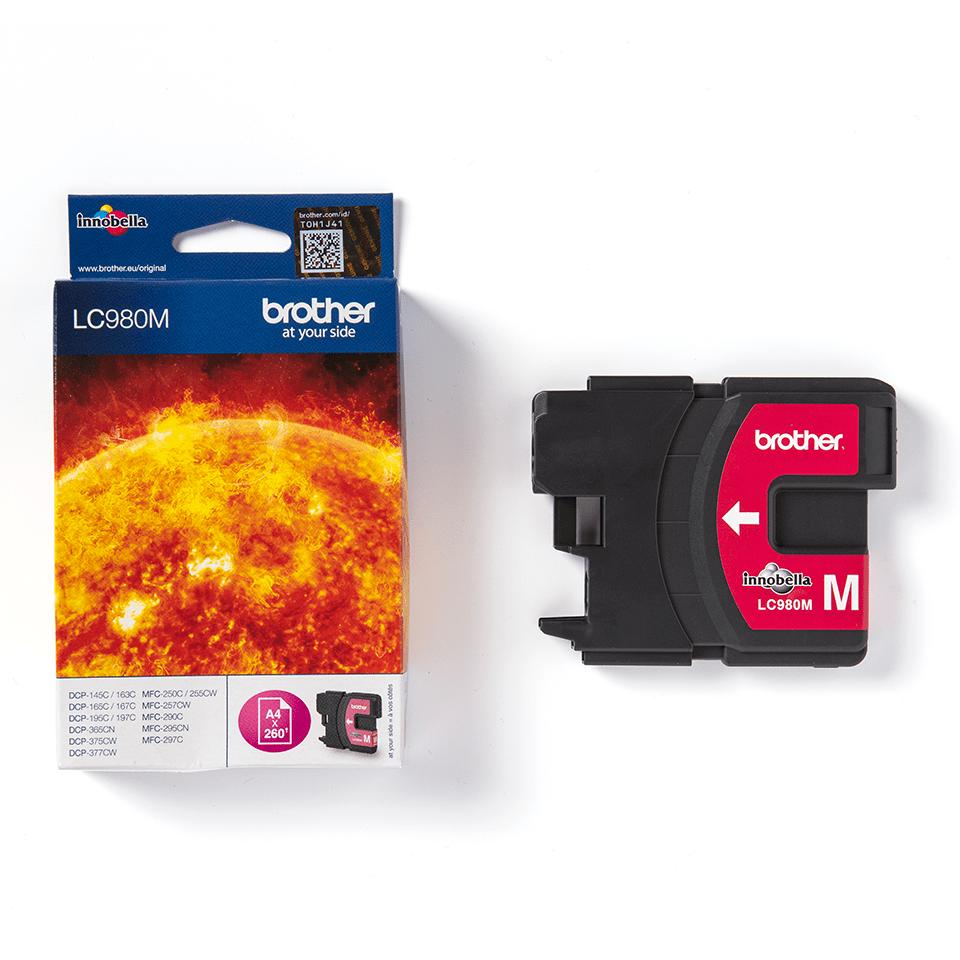 Genuine Brother LC980M Ink Cartridge – Magenta 2