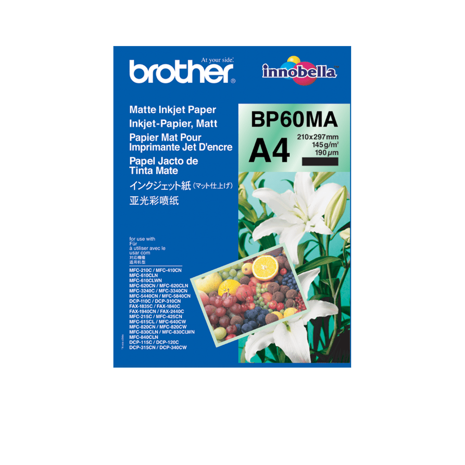 Genuine Brother BP60MA Matte A4 Inkjet Paper