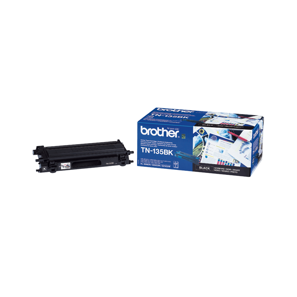 Genuine Brother TN-135BK High Yield Toner Cartridge – Black