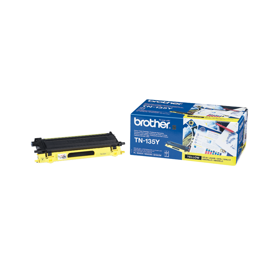 Genuine Brother TN-135Y High Yield Toner Cartridge – Yellow