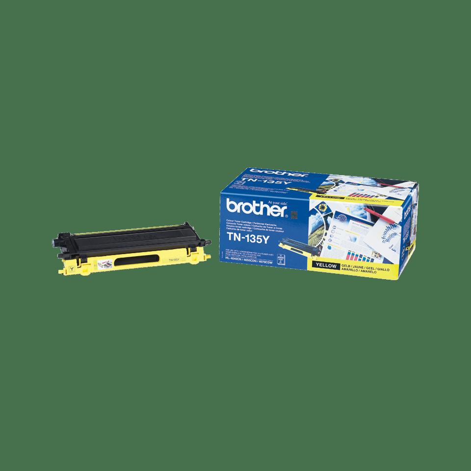 Genuine Brother TN-135Y High Yield Toner Cartridge – Yellow 2