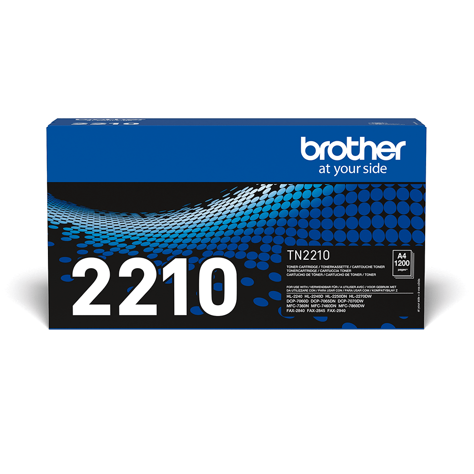 Genuine Brother TN-2210 Toner Cartridge – Black