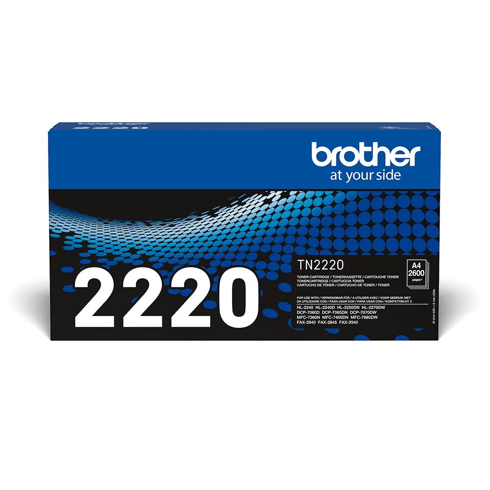Genuine Brother TN-2220 High Yield Toner Cartridge – Black