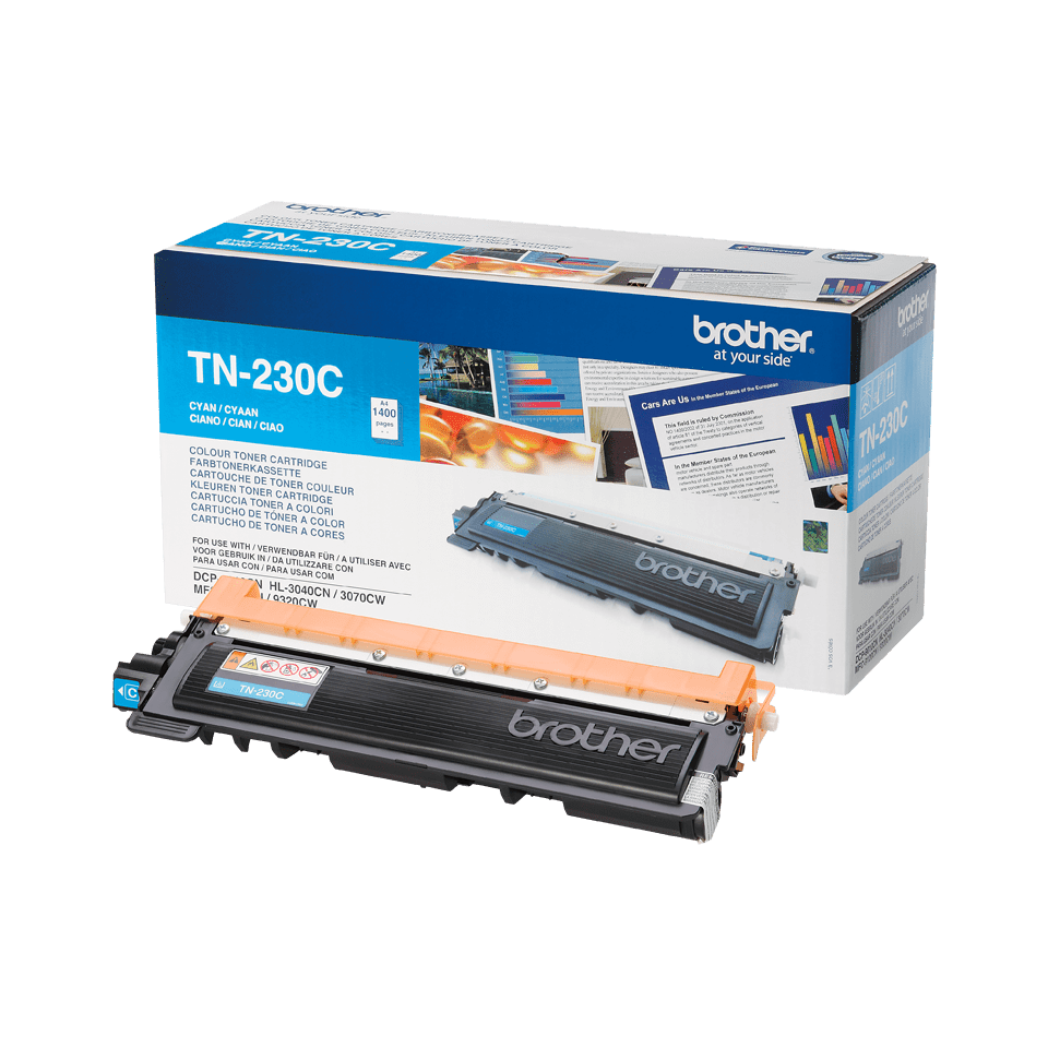 Genuine Brother TN-230C Toner Cartridge – Cyan
