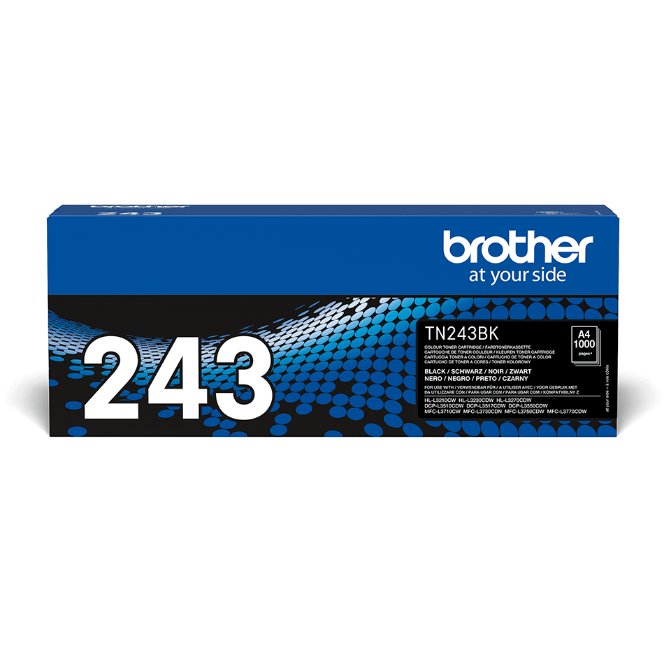 Genuine Brother TN-243BK Toner Cartridge - Black