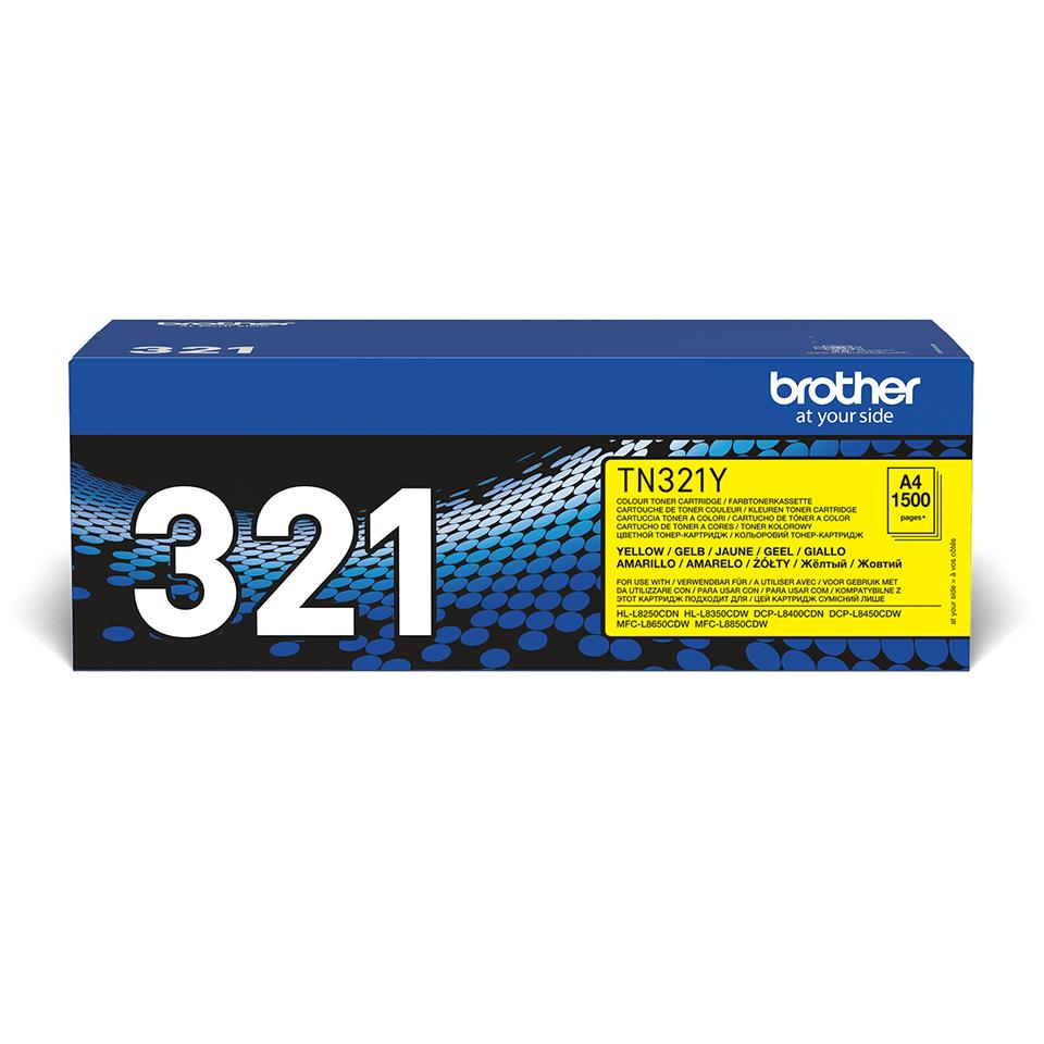 Genuine Brother TN-321Y Toner Cartridge – Yellow