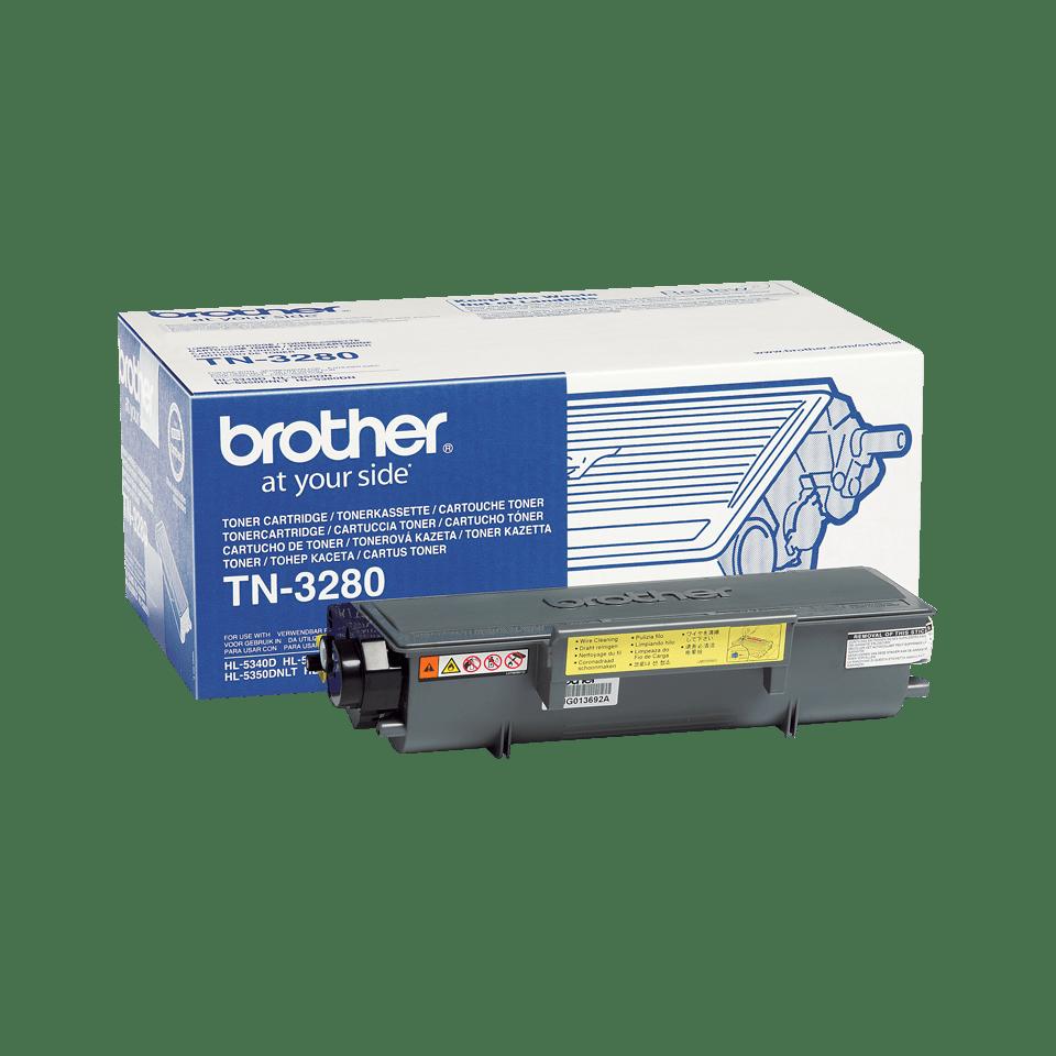 Genuine Brother TN-3280 High Yield Toner Cartridge – Black