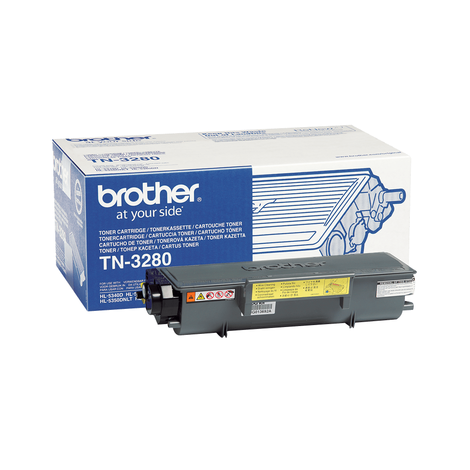 Genuine Brother TN-3280 High Yield Toner Cartridge – Black