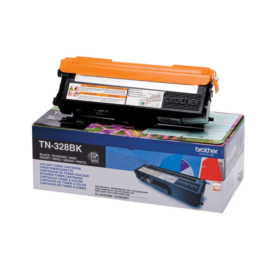 Genuine Brother TN-328BK Toner Cartridge – Black