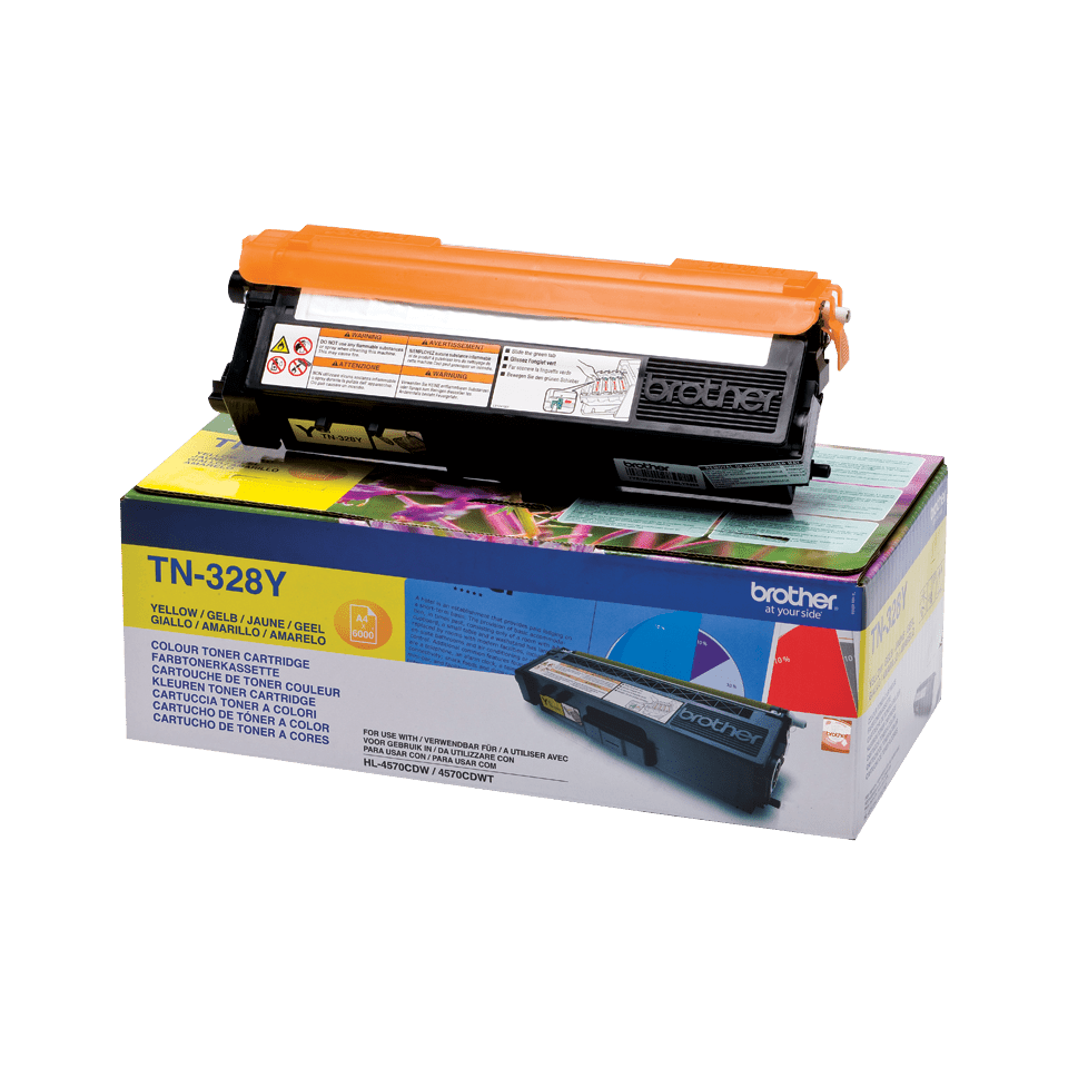 Genuine Brother TN-328Y Toner Cartridge – Yellow