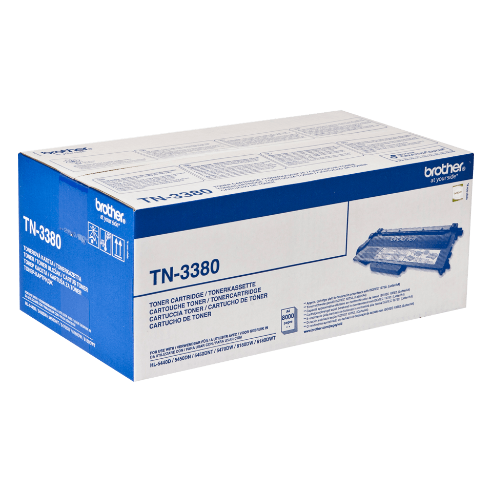 Genuine Brother TN-3380 High Yield Toner Cartridge – Black