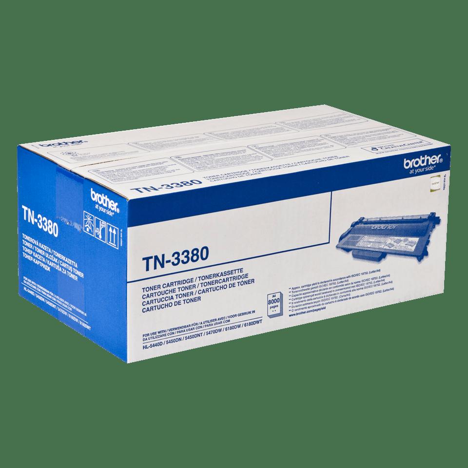 Genuine Brother TN-3380 High Yield Toner Cartridge – Black 2