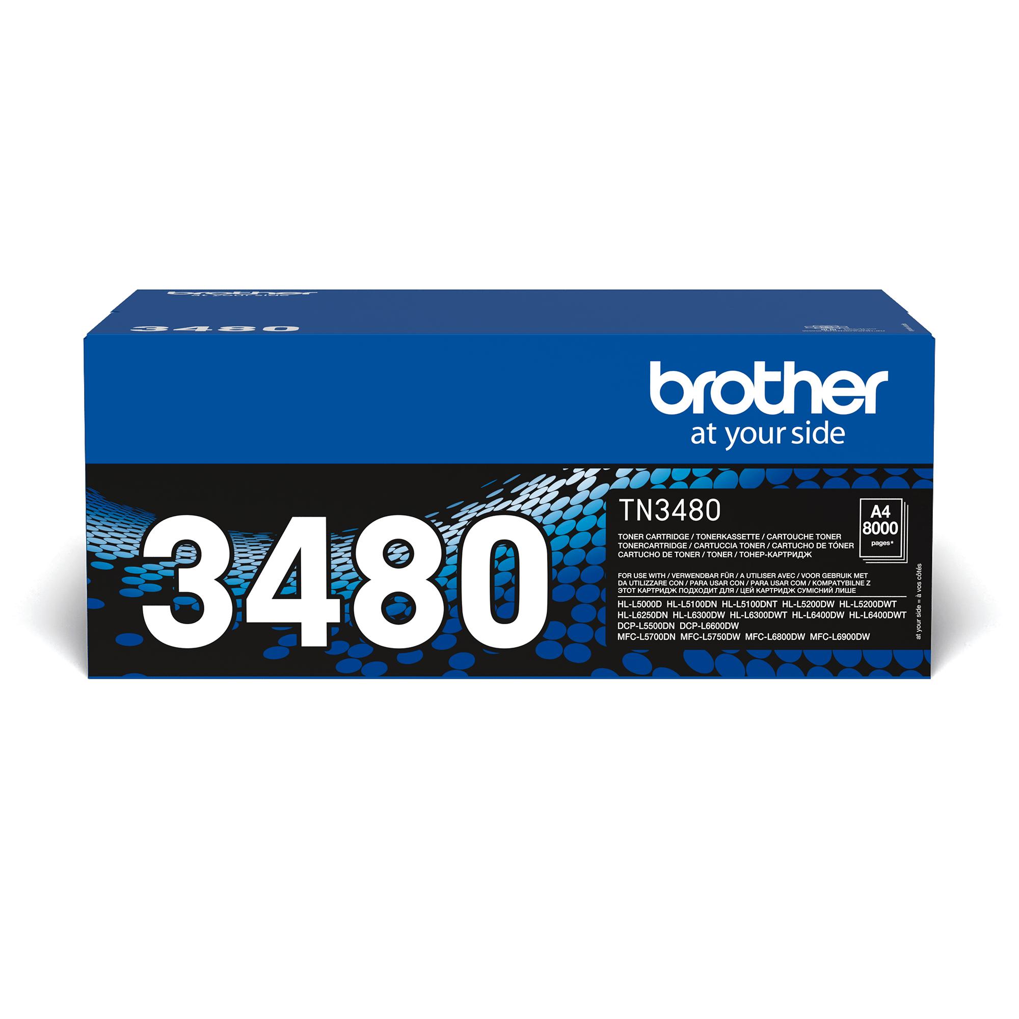 Genuine Brother TN-3480 Toner Cartridge – Black