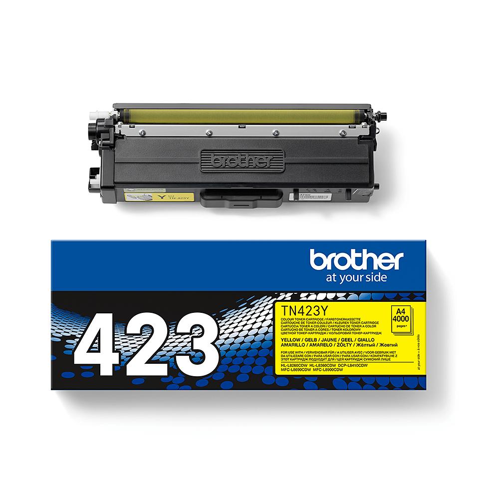 Genuine Brother TN-423Y Toner Cartridge – Yellow 2
